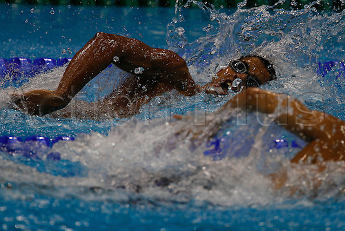 31.08.2012 London, England. Enhamed ENHAMED (ESP) in action during the men's 100m freestyle S11 final on Day 2 of the Paralympic Swimming from the Aquatics Centre.