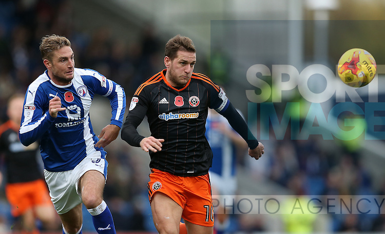 Billy Sharp of Sheffield Utd during the English League One match at the Proact Stadium, Chesterfield. Picture date: November 13th, 2016. Pic Simon Bellis/Sportimage