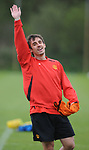 Gary Neville of Manchester United during training before the champions league fixture against Barcelona Picture date 28th April 2008. Picture credit should read: Simon Bellis/Sportimage