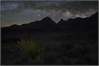 This image looking east at the Window was taken very early in the morning. I used a star tracker to capture the Milky Way, then a long exposure with some lighting to show the yucca and a little of the foreground. Using photoshop, I blended the images back together to show what I saw that morning before sunrise. It was pretty special and an image just doesn't do justice to the grandness of the Milky Way over Big Bend.
