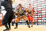 Marcel Kittel and Warren Barguil dressed as Samurai on stage before the Tour de France Saitama Critérium 2017 held around the streets os Saitama, Japan. 3rd November 2017.<br /> Picture: ASO/Pauline Ballet | Cyclefile<br /> <br /> <br /> All photos usage must carry mandatory copyright credit (© Cyclefile | ASO/Pauline Ballet)
