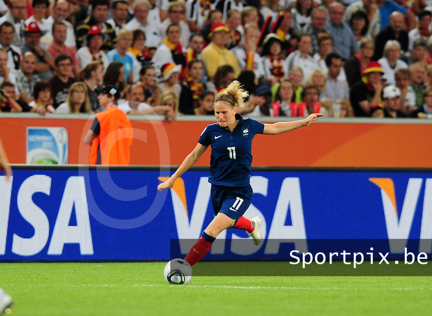Fifa Women's World Cup Germany 2011 : France - Germany ( Frankrijk - Duitsland ) at Munchengladbach World Cup stadium : Laure LEPAILLEUR.foto DAVID CATRY / Vrouwenteam.be