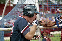 Boston Red Sox Wade Boggs dips Red Man chewing tobacco during spring training circa 1990 at Chain of Lakes Park in Winter Haven, Florida.  (MJA/Four Seam Images)