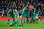 Players of Real Sociedad celebrate the victory during La Liga match between Real Madrid and Real Sociedad at Santiago Bernabeu Stadium in Madrid, Spain. February 06, 2020. (ALTERPHOTOS/A. Perez Meca)