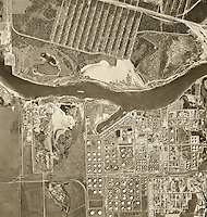 historical aerial photograph Port of Houston, Texas, 1966