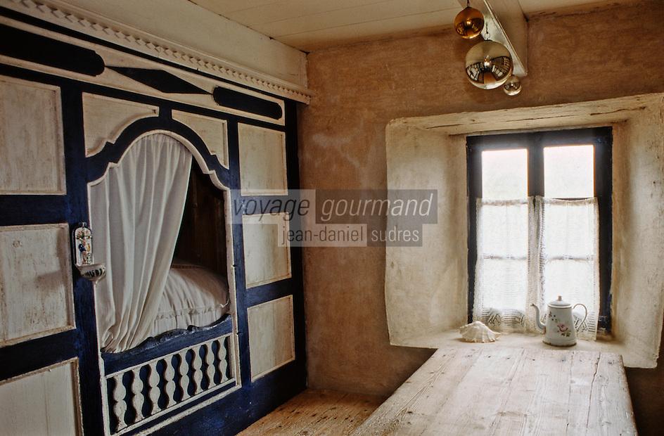 Europe/France/Bretagne/29/Finistère/Ile d'Ouessant/Ecomusée de NIOU: maison des techniques ouessantines, intérieur
