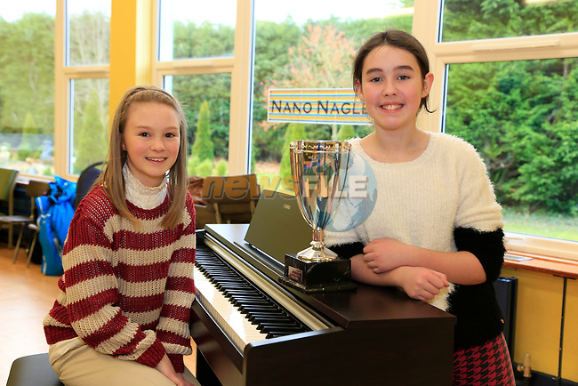 April Judge with School Stars winner Naoise Dunne  in the Presentation school ballymakenny road.<br /> Picture: Fran Caffrey www.newsfile.ie
