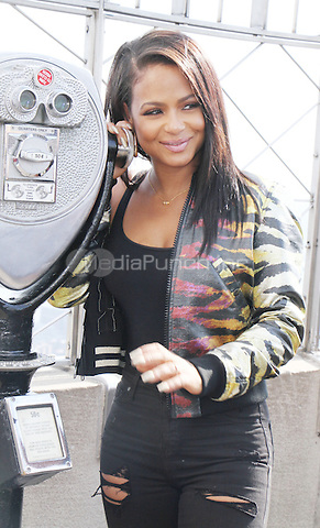 NEW YORK, NY-October 19: Christina Milian star of New Rocky Horror Picture Show  vist the Empire State Building Observation Deck at the Empire State Building in New York.October 19, 2016. Credit:RW/MediaPunch