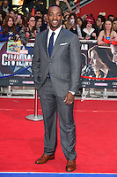 Anthony Mackie<br /> arrives for the European premiere of &quot;Captain America: Civil War&quot; at Westfield, Shepherds Bush, London<br /> <br /> <br /> &copy;Ash Knotek  D3111 26/04/2016