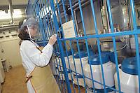 """- Hospital Maggiore of Milan, Center of Transfusional Medicine, Cellular Therapy and Cryobiology, """"bank of the embryos"""", conservation of blood, tissues and cells. The armored room where will come conserved the human embryos....- Ospedale Maggiore di Milano, Centro di Medicina Trasfusionale, Terapia Cellulare e Criobiologia, """"banca degli embrioni"""", conservazione di  sangue, tessuti e cellule. Il locale blindato dove verranno conservati gli embrioni umani"""