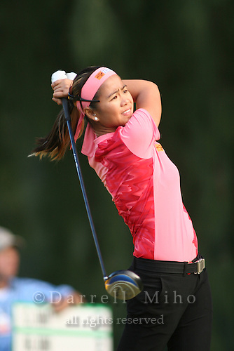 February 16, 2006 - Kahuku, HI - Jennifer Rosales tees off during Round 1 of the LPGA SBS Open at Turtle Bay Resort...Photo: Darrell Miho