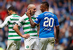 01.09.2019 Rangers v Celtic: Alfredo Morelos and Scott Brown