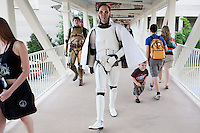 ORLANDO, FLORIDA - AUG 24: Star Wars fans take part in the 6th bi-annual Star Wars Celebration at The Orange County Convention Center on Friday, August 24, 2012 in Orlando, Florida. (Photo by Landon Nordeman)