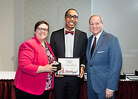 Spirit of State Awards ceremony. Vice President of Student Affairs Regina Hyatt and MSU President Mark Keenum with Suede Videl Graham. <br />  (photo by Megan Bean / &copy; Mississippi State University)