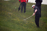 Lee Westwood Playing his third shot onto the green on the 3rd hole during day two of the 3 Irish Open..Pic Fran Caffrey/golffile.ie