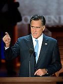 Mitt Romney, Republican Presidential Candidate, participates in a microphone check prior to the start of the day's proceedings at the 2012 Republican National Convention in Tampa Bay, Florida on Thursday, August 30, 2012.  .Credit: Ron Sachs / CNP.(RESTRICTION: NO New York or New Jersey Newspapers or newspapers within a 75 mile radius of New York City)
