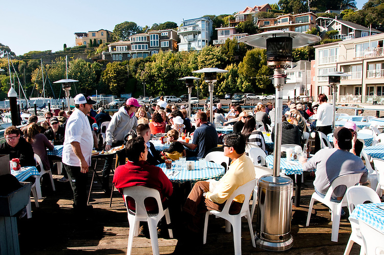 Sams Restaurant; Food; Dining, Tiburon, California, USA.  Photo copyright Lee Foster.  Photo # california108026