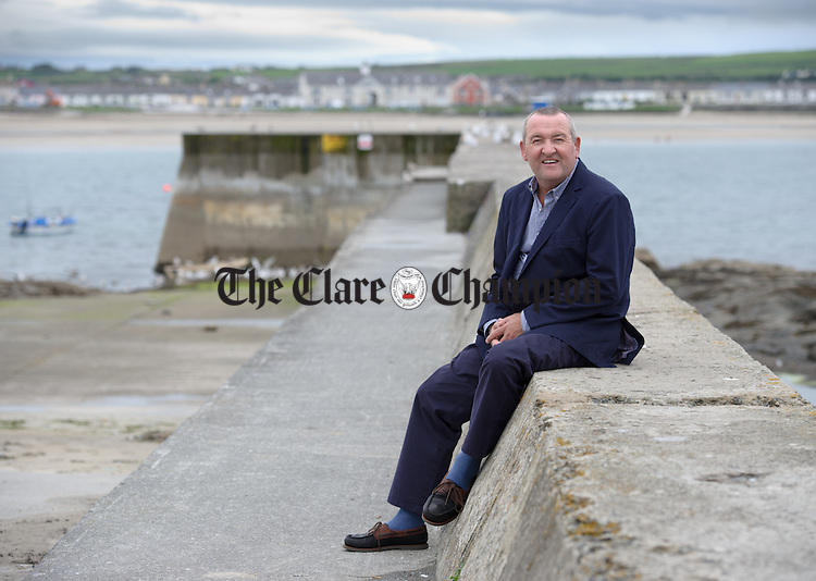 The new CEO of Clare County Council Pat Dowling pictured at Kilkee. Photograph by John Kelly.