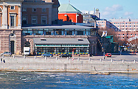 The Operakallaren gastronomic restaurant on the back side of the Opera House with a view over Strommen Stockholms Strom Stockholm, Sweden, Sverige, Europe