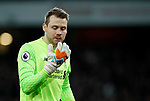 Liverpool's Simon Mignolet looks on dejected during the premier league match at the Emirates Stadium, London. Picture date 22nd December 2017. Picture credit should read: David Klein/Sportimage