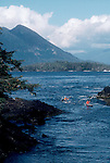 Sea kayakers, Clayoquot Sound, Vancouver Island, west coast, British Columbia, Canada,.