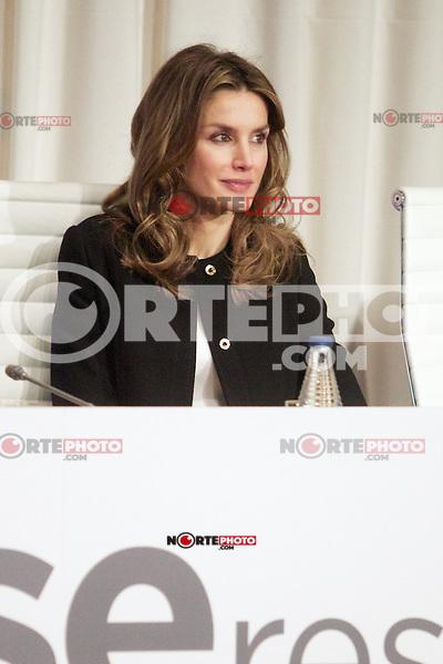 Spain's Princess Letizia attend an award ceremony. October 31, 2012. (ALTERPHOTOS/Alvaro Hernandez) /NortePhoto .<br /> &copy;NortePhoto
