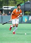 BLOEMENDAAL   - Hockey - Glenn Schuurman (Bldaal)  . 3e en beslissende  wedstrijd halve finale Play Offs heren. Bloemendaal-Amsterdam (0-3). Amsterdam plaats zich voor de finale.  COPYRIGHT KOEN SUYK