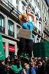 Demonstration of teachers, parents and students in Madrid against the cuts in budget of education. 22-10-11..Manifestacion de profesores, padres y estudiantes en Madrid contra los recortes en la Educacion
