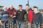 COMPETITION\\: Taken part in the Ardfewrt Ploughing competition on Sunday on Jim Healy's land in Ardfert, l-r: Jimmy Donegan, Eamon Flynn, Cormac O'Connor, Enda Donegan and James Donegan (Causeway)................... . ............................... ..........