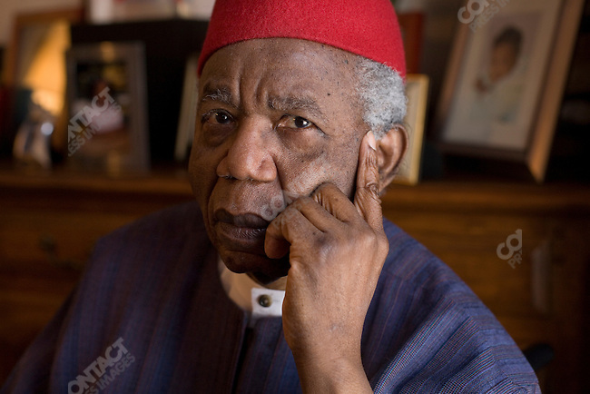 Chinua Achebe  Nigerian novelist, poet and critic currently the Charles P. Stevenson Professor of Languages and Literature at Bard College, Annandale-on-Hudson, New York on December 19th,2007.