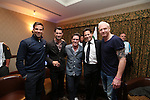 Celebrity Golf @ Golf Live.Wales team Gethin Jones, Matt Johnson, Rob Brydon, Ioan Gruffudd & Iwan Thomas..Celtic Manor Resort.10.05.13.©Steve Pope