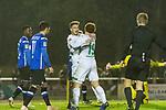 23.10.2018, Heinz-Dettmer-Stadion, Lohne, GER, FSP, SV Werder Bremen vs DSC Arminia Bielefeld<br /> <br /> DFL REGULATIONS PROHIBIT ANY USE OF PHOTOGRAPHS AS IMAGE SEQUENCES AND/OR QUASI-VIDEO.<br /> <br /> im Bild / picture shows<br /> Vorlagengeber David Philipp (Werder Bremen #31) bejubelt 2:1 Tor mit Torsch&uuml;tze Joshua Sargent (Werder Bremen #19), <br /> <br /> Foto &copy; nordphoto / Ewert
