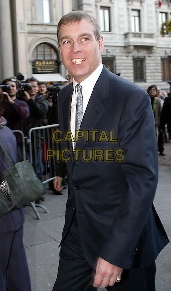 PRINCE ANDREW-DUKE OF YORK.Milan, Itlay, 23rd November 2004..half length royal royalty English British.Ref: OME.www.capitalpictures.com.sales@capitalpictures.com.©Omega/Capital Pictures .