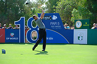 Robert Rock (ENG) on the 18th tee during the final round of the DP World Tour Championship, Jumeirah Golf Estates, Dubai, United Arab Emirates. 18/11/2018<br /> Picture: Golffile | Fran Caffrey<br /> <br /> <br /> All photo usage must carry mandatory copyright credit (© Golffile | Fran Caffrey)