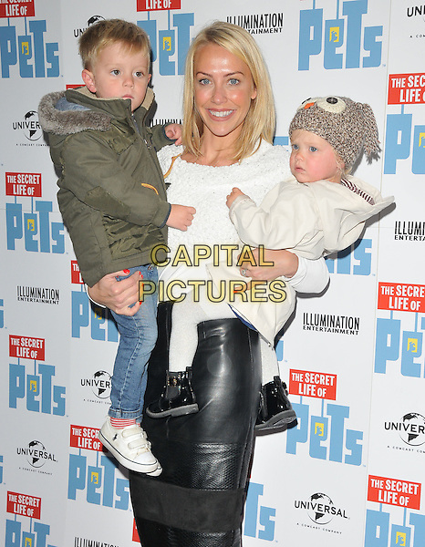 Rocco Goward, Laura Hamilton and Tahlia Goward at the &quot;The Secret Life of Pets&quot; UK 'Petmiere', Prince Charles cinema, Leicester Place, London, England, UK, on Saturday 12 November 2016. <br /> CAP/CAN<br /> &copy;CAN/Capital Pictures