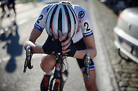 A tired (and disappointed?) Helen Wyman (GBR/Kona) post-race<br /> <br /> Elite Women's race<br /> Koppenbergcross 2015