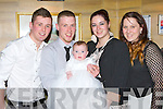 Baby Éabha Maí who celebrated her christening with her parents Mark Davies and Kiann Huggett, Ballydribeen, Killarney and God parents Rochelle O'Shea and Chris Davies in the Killarney Avenue Hotel on Saturday.
