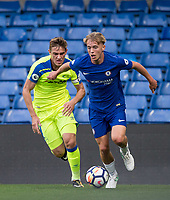 Timi-May ELSNIK of Derby County & Luke McCORMICK of Chelsea battle for the ball during the U23 Premier League 2 match between Chelsea and Derby County at Stamford Bridge, London, England on 18 August 2017. Photo by Andy Rowland.<br /> **EDITORIAL USE ONLY FA Premier League and Football League are subject to DataCo Licence.