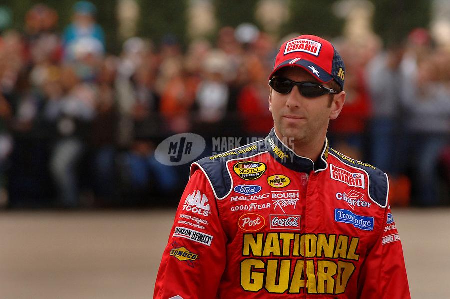 Sept. 29, 2006; Kansas City, KS, USA; Nascar Nextel Cup driver Greg Biffle (16) during practice for the Banquet 400 at Kansas Speedway. Mandatory Credit: Mark J. Rebilas