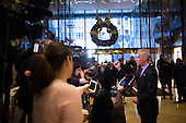 Mayor Rahm Emanuel (Democrat of Chicago) speaks to members of the media at Trump Tower in Manhattan, New York, New York, USA on Wednesday, December 7, 2016. <br /> Credit: John Taggart / Pool via CNP