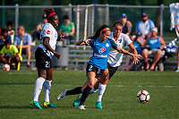 Kansas City, MO - Sunday September 3, 2017: Mandy Freeman, Shea Groom, Erica Skroski during a regular season National Women's Soccer League (NWSL) match between FC Kansas City and Sky Blue FC at Children's Mercy Victory Field.