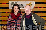 Brid Murphy (Castleisland, Secretary Kerry Badminton Association) and Junior Griffin (Chairman of the Kerry Badminton Association), attending the Badminton tournament which took place in Killarney Sports and Leisure on Sunday last.