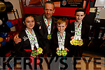 Ciara Frampton, Alan Guilfoyle, Jack Maguire and Isabel Shaw of Black Belt Martial Arts Academy, Tralee who won 4 world titles at the 2019 ISKA World Championships in Cork last weekend.