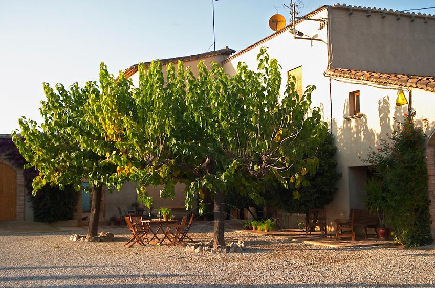 Winery building. Mas Comtal, Avinyonet, Penedes, Catalonia, Spain