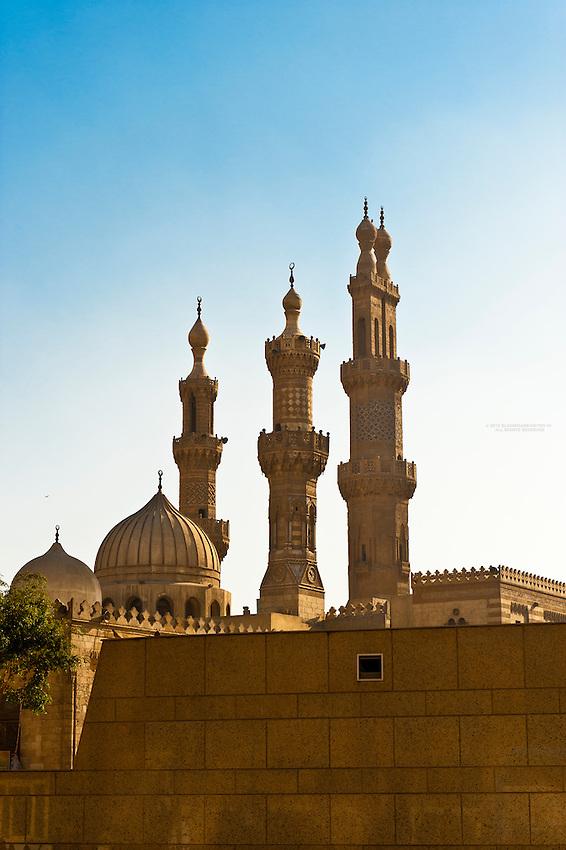 El Azhar Mosque, Old Cairo (Islamic Cairo), Cairo, Egypt