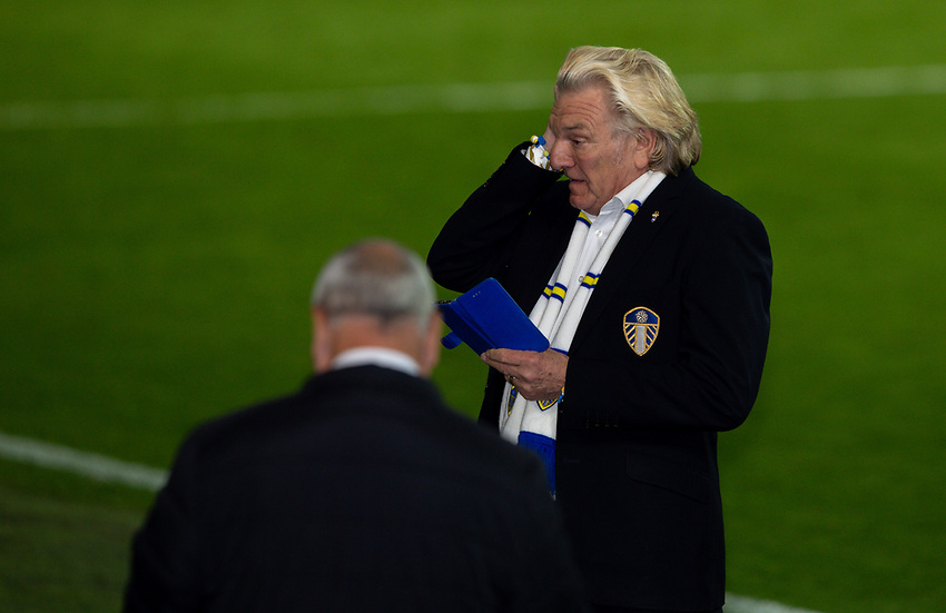 Leeds United player liaison officer Stix Lockwood wipes a tear from his eye<br /> <br /> Photographer Alex Dodd/CameraSport<br /> <br /> The EFL Sky Bet Championship - Leeds United v Charlton Athletic - Wednesday July 22nd 2020 - Elland Road - Leeds <br /> <br /> World Copyright © 2020 CameraSport. All rights reserved. 43 Linden Ave. Countesthorpe. Leicester. England. LE8 5PG - Tel: +44 (0) 116 277 4147 - admin@camerasport.com - www.camerasport.com