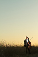 Senior portrait of cello player Phillip Sheegog.