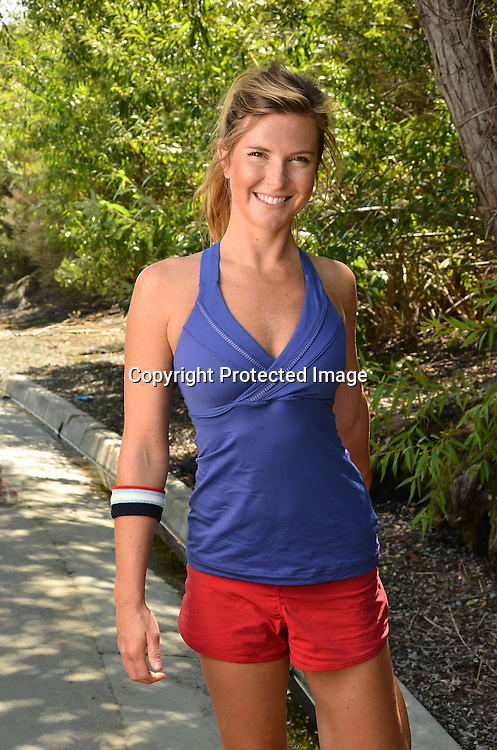 Woman preparing to jog
