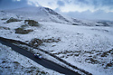 08/12/14<br /> <br /> With Mam Tor in the back ground, a car makes its way down Winnats Pass near Castleton.<br /> <br /> After overnight snowfall in Debyshire dawn reveals stunning snowscapes across the Peak District.<br /> <br /> ***ANY UK EDITORIAL PRINT USE WILL ATTRACT A MINIMUM FEE OF &pound;130. THIS IS STRICTLY A MINIMUM. USUAL SPACE-RATES WILL APPLY TO IMAGES THAT WOULD NORMALLY ATTRACT A HIGHER FEE . PRICE FOR WEB USE WILL BE NEGOTIATED SEPARATELY***<br /> <br /> <br /> All Rights Reserved - F Stop Press. www.fstoppress.com. Tel: +44 (0)1335 300098