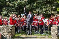 UK, England, Yorkshire.  Hardraw Brass Band Festival.
